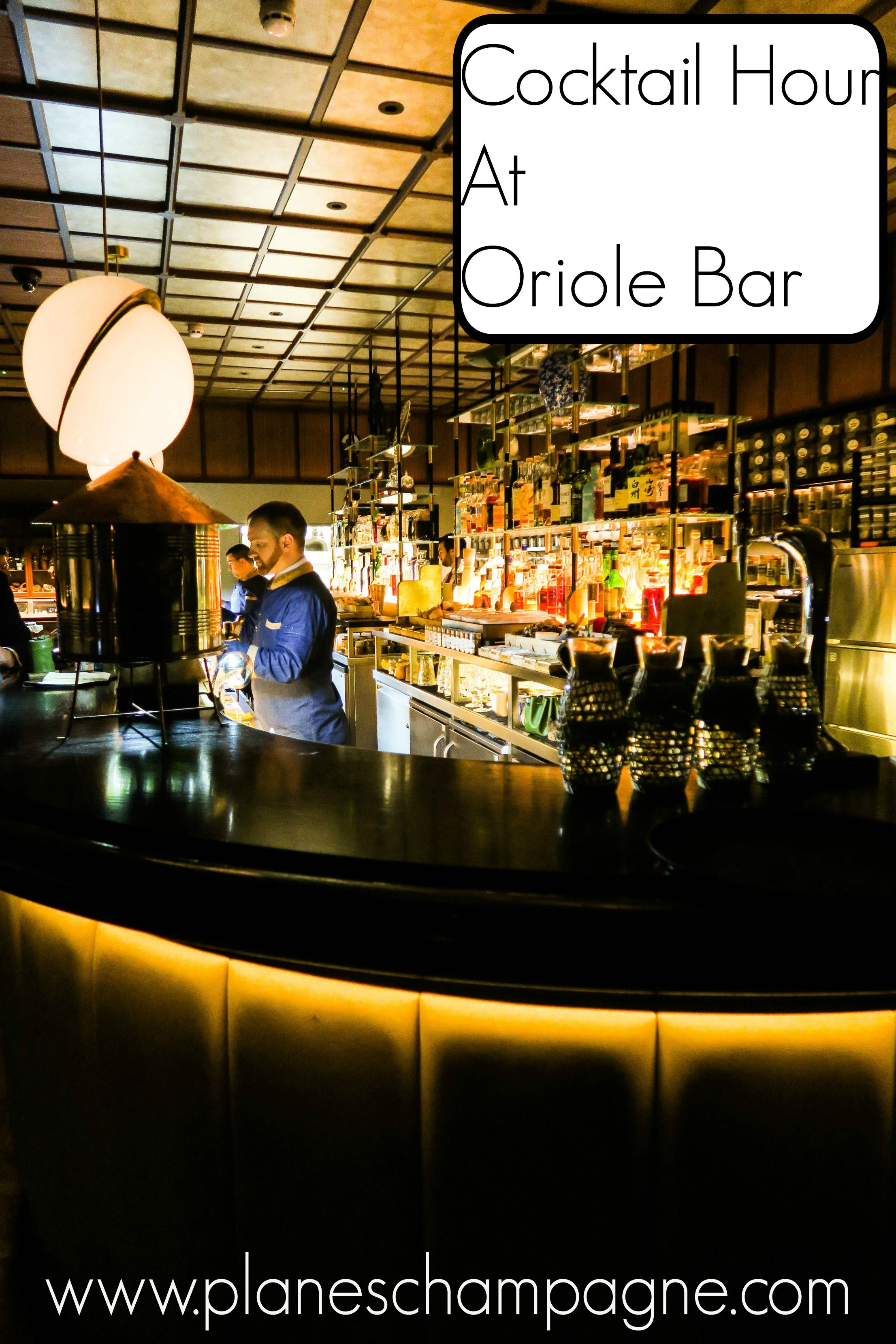Cocktail Hour At Oriole Bar Planes & Champagne London