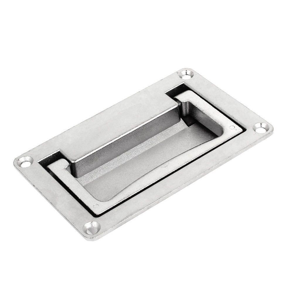 110mm x 70mm Cabinet Rectangular Grip Recessed Flush Pull Handle ...