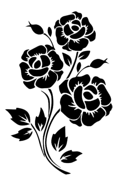 38+ Flower black and white clipart vector ideas