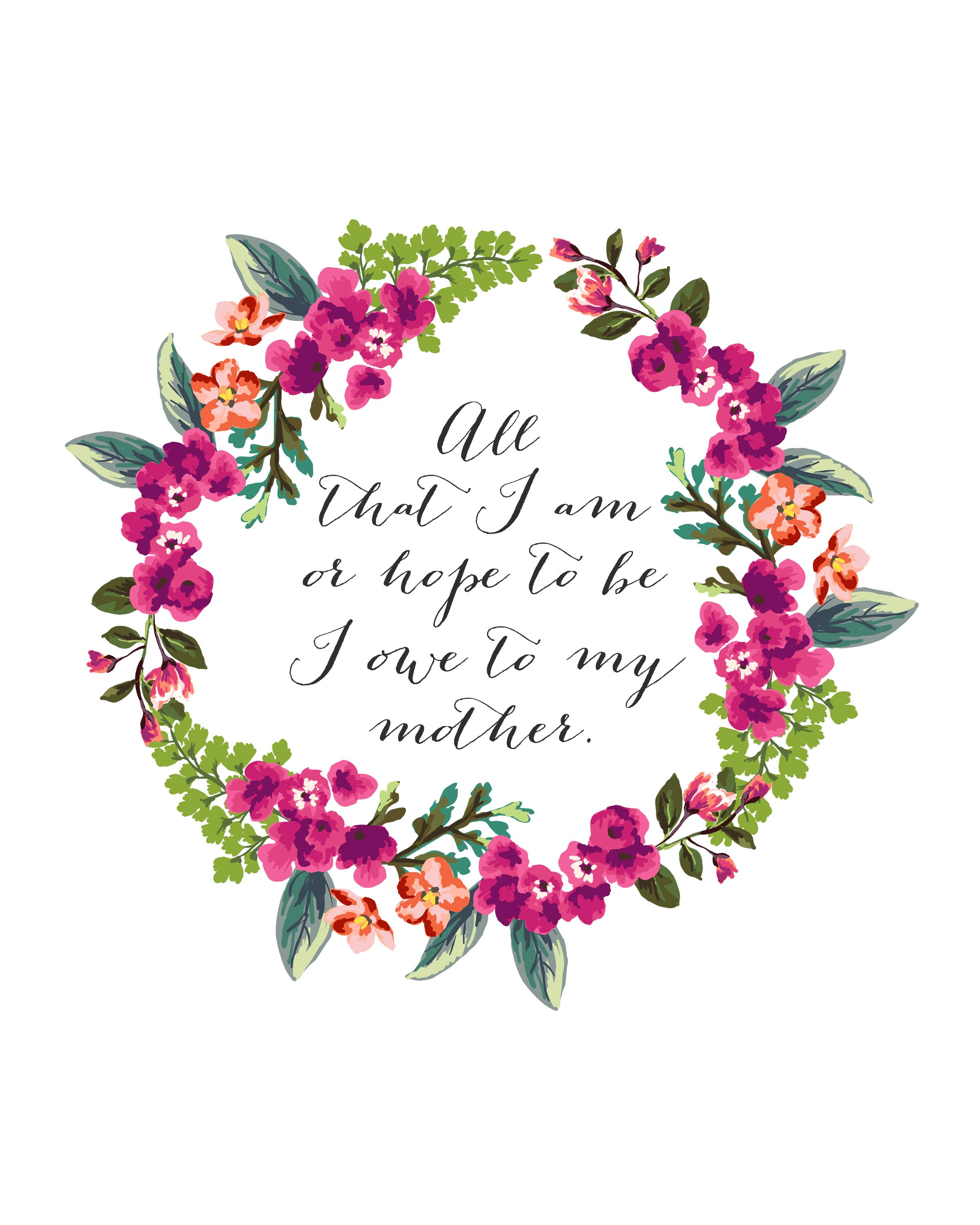 Declarative image for printable mothers day quotes