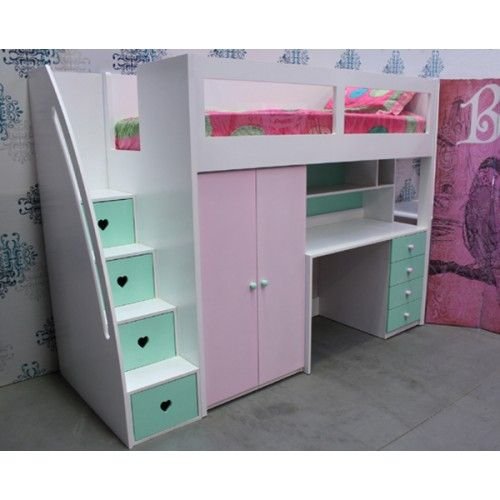 Loft Beds With Desk And Stairs For Kids Australia Just Kids