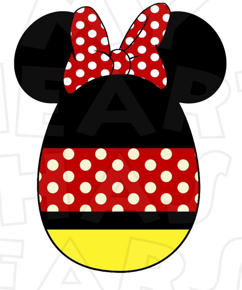 Minnie Mouse Easter Egg Instant Download Digital Clip Art Diy Iron On Transfer For T