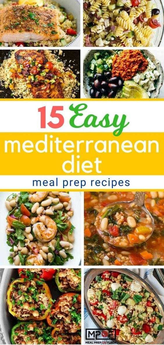 Photo of 15 Easy Mediterranean Diet Meal Recipes