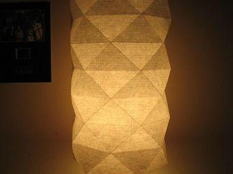 DIY Paper Lantern Square Might Could Use This Fold To Make An Opening