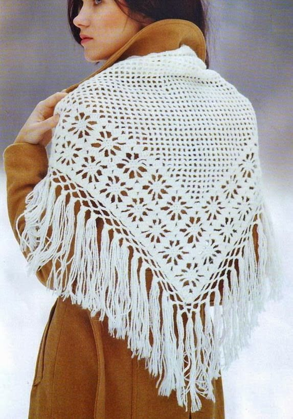 Stylish Easy Crochet: Crochet Shawl Pattern - Classic Crochet ...