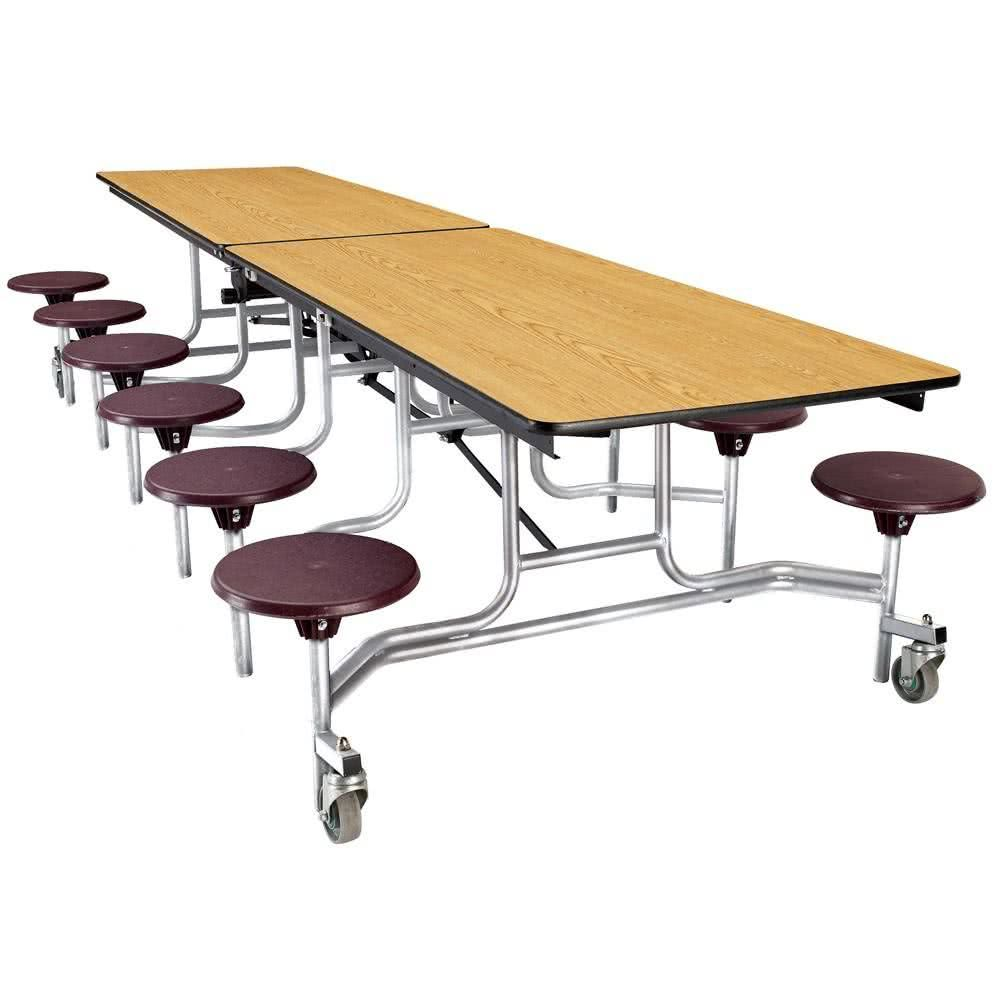 national public seating mts12 12 foot mobile cafeteria table with