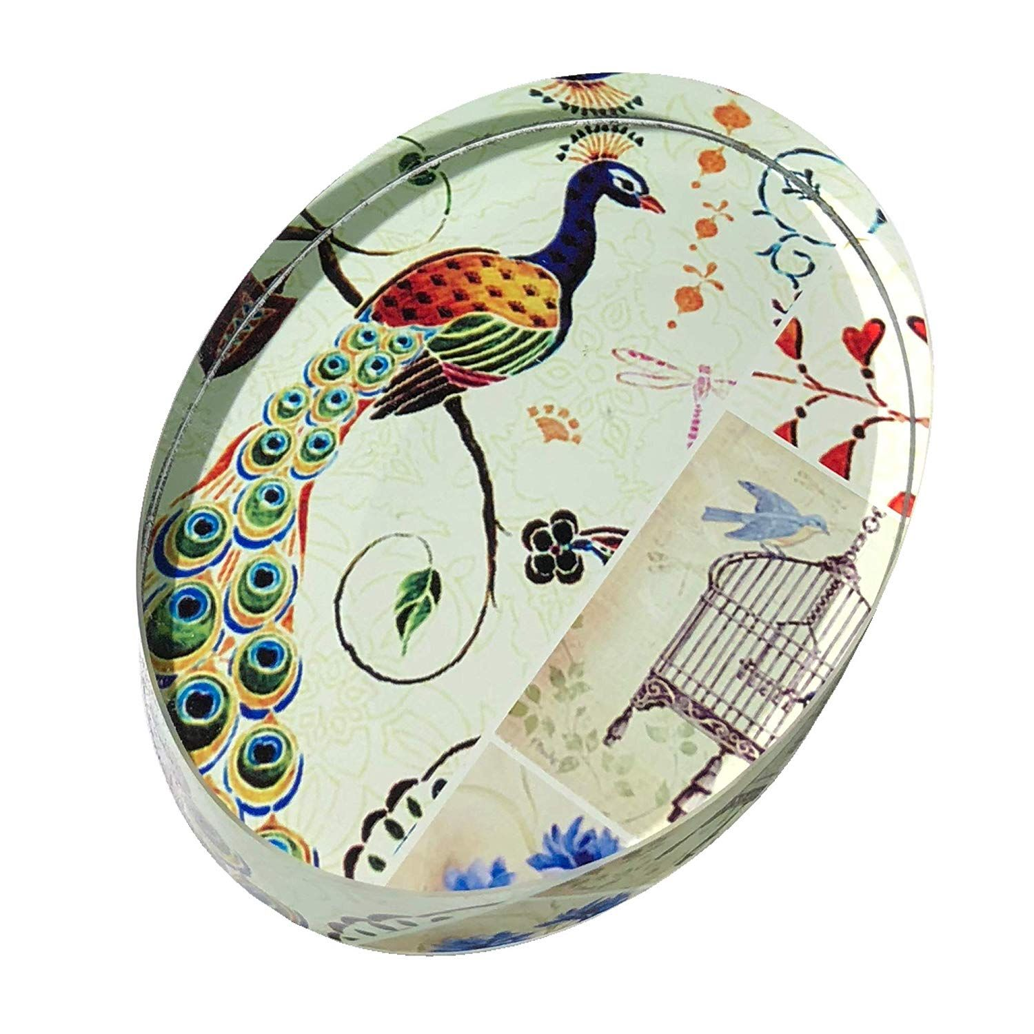 Garden 2 Home Oval Glass Peacock Paperweight - SALE ...