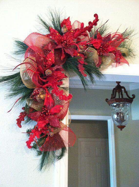 Adorno para exterior navidad Pinterest Decoración de esquina