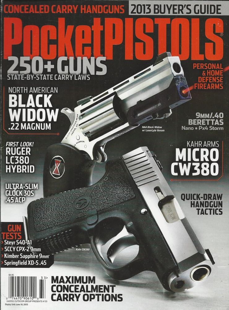 pocket pistols magazine black widow magnum kahr arms micro cw380 rh pinterest com Gun Values LEGO Guns