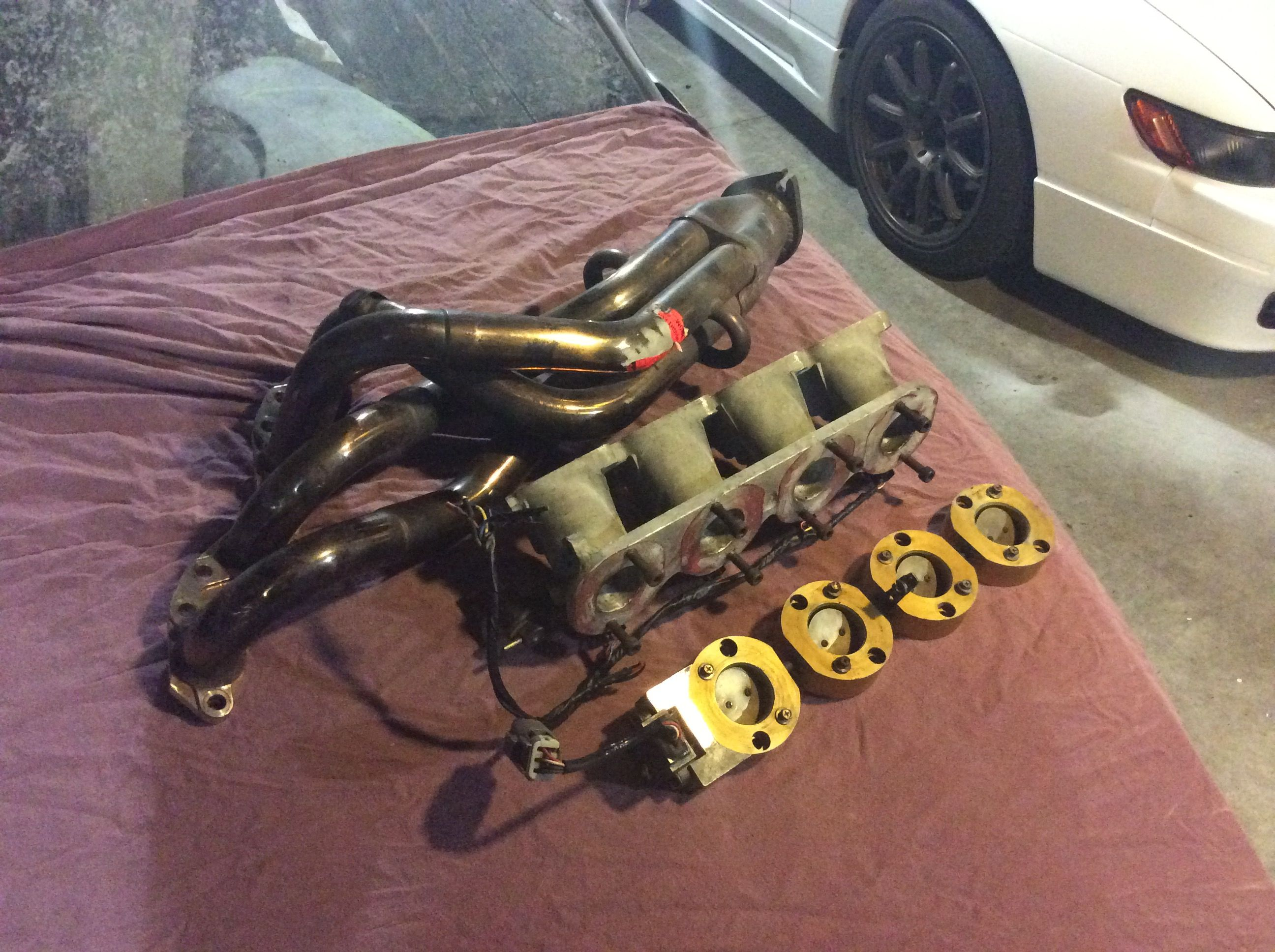 Hks 4 1 Sr20de Headers And One Off S13 Individual Throttle Bodies Itbs