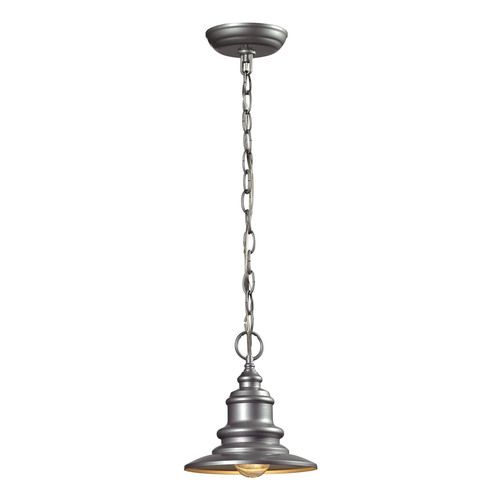 47021/1 | Marina 1 Light Outdoor Pendant In Matte Silver - 47021/1