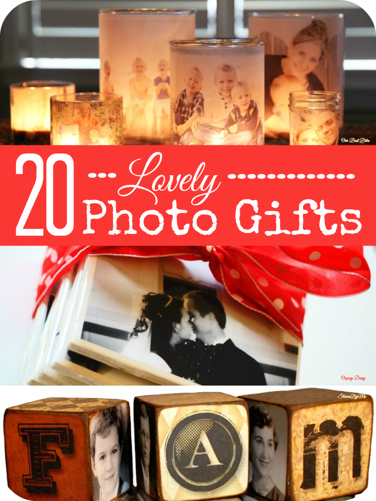 20 lovely ideas for making Christmas gifts from photos @Mums make ...