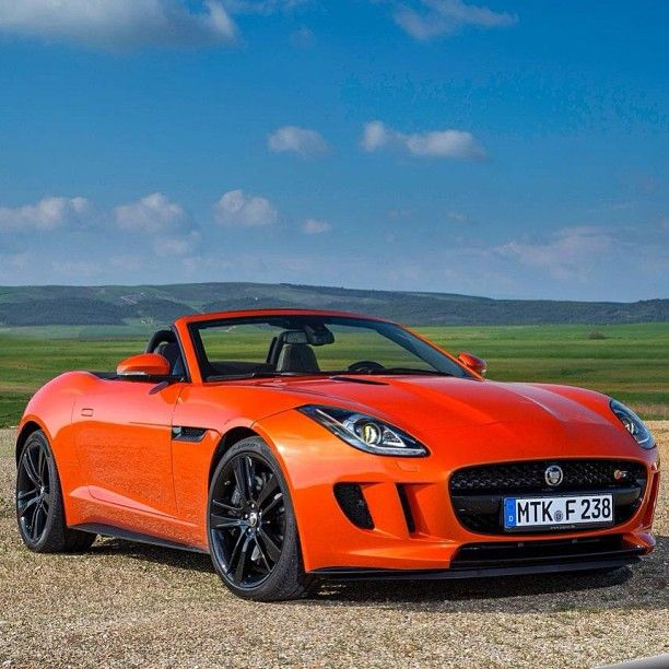 Matte Orange Jaguar F Type Finally The Return Of A True Jaguar Sportscar Really Look Forward To See A Couple Of These Jaguar F Type Jaguar New Jaguar F Type