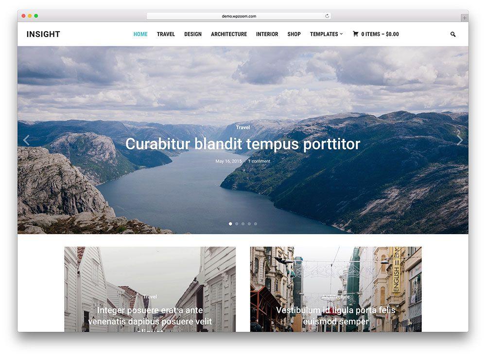 insight - photography blog style theme | Website | Pinterest