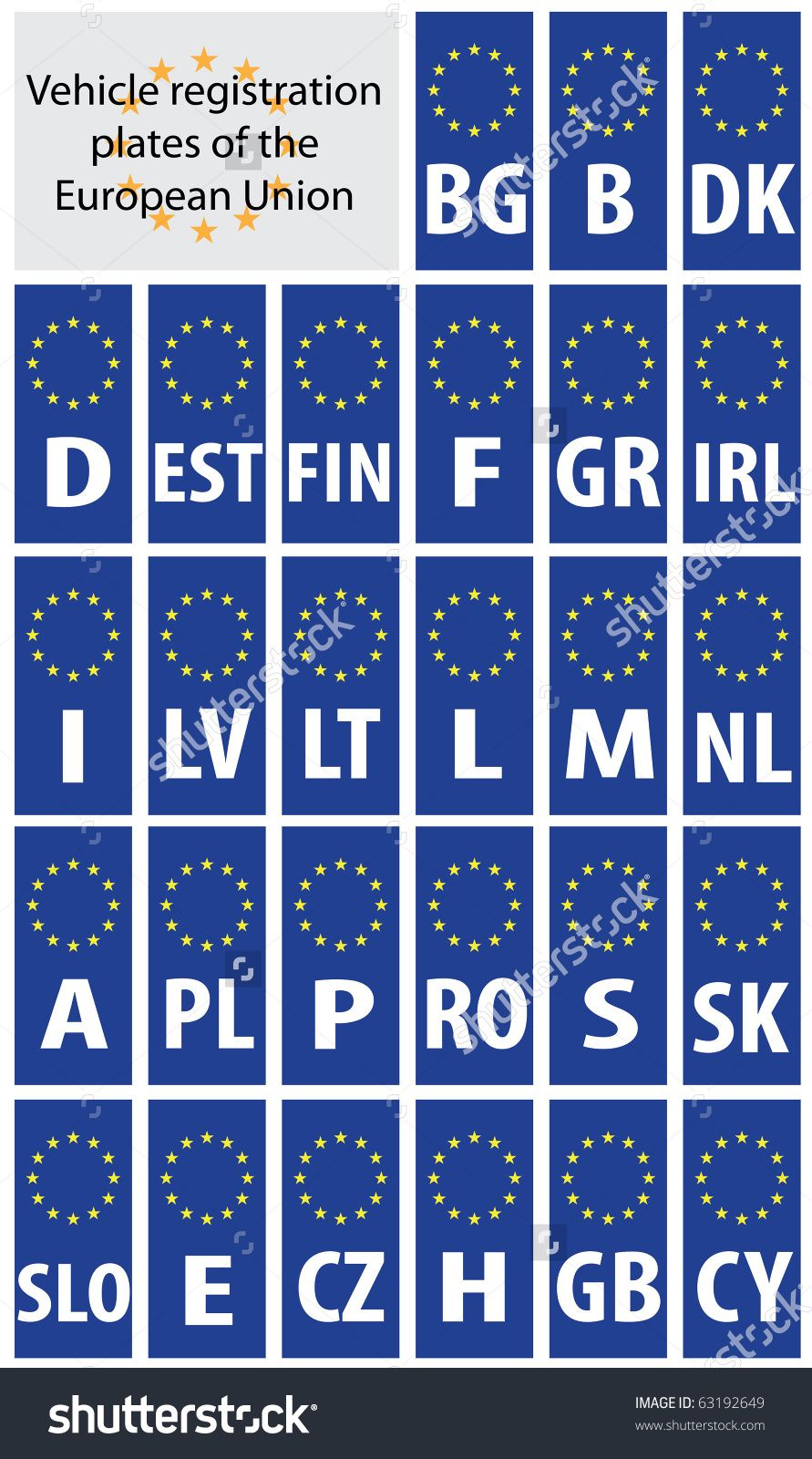 stock-vector-vehicle-registration-plates-of-european-union-states ...