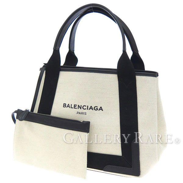 バレンシアガ トートバッグ ネイビーカバ S ポーチ付 339933 BALENCIAGA スモールサイズ バッグ カバス