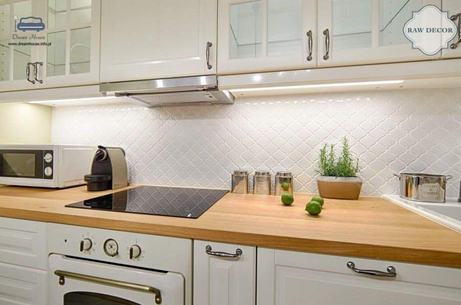 Kafle Ceramiczne Biala Mozaika Arabeska Raw Decor Kitchen Kitchen Cabinets