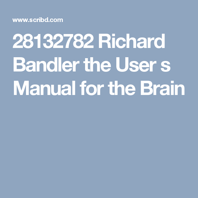 Nlp manual array bodenhamer and halls u0027 nlp practioner textbook the user u0027s manual rh pinterest ca fandeluxe