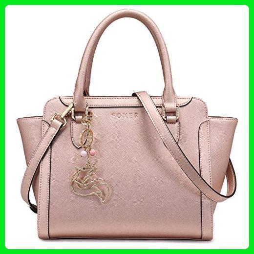 9b87f48fc8a3 FOXER Women Handbag Leather Purse Top Handle Tote Shoulder Bag ...