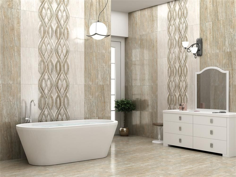Bathroom Tiles Latest Trends diana silk (wall tile), size - 300x600 mm, for more details click