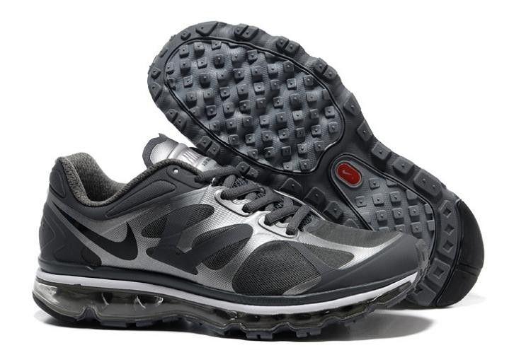Nike Air Max 2012 Men's Running Shoe 487982 006 Grey/Silver
