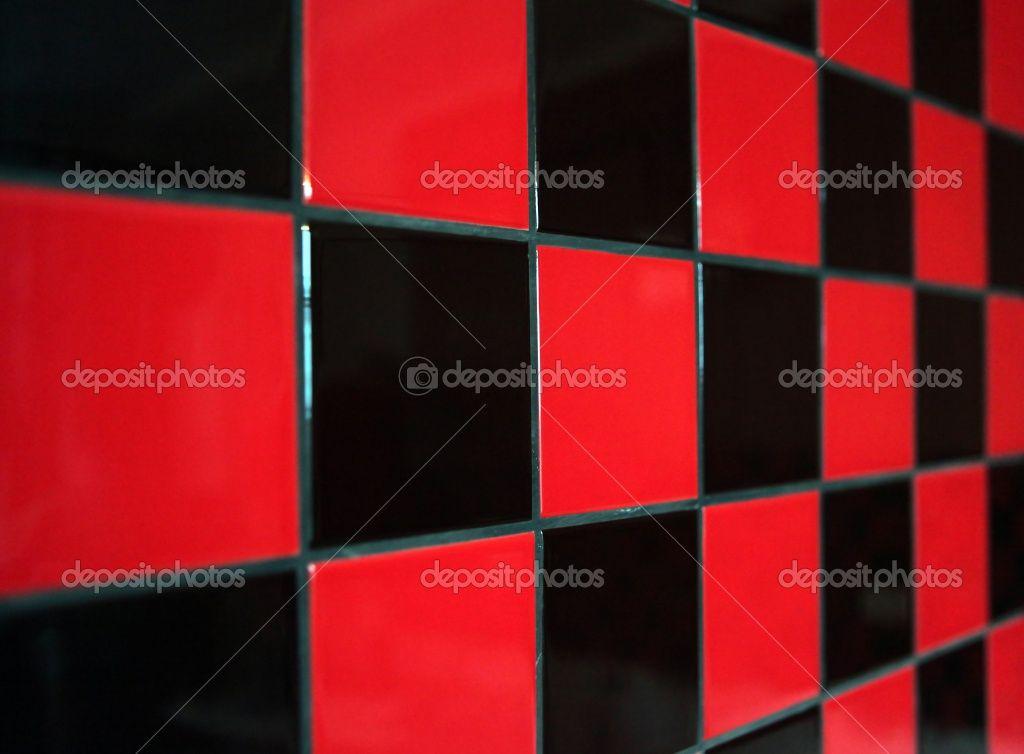 Floor Red And Black Checker Tile Stock Photo Stepan Popov 3425494