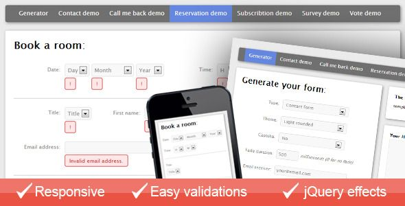 Discount Deals Multiple contact forms generator (AJAX + PHP)Yes I - reservation forms in pdf