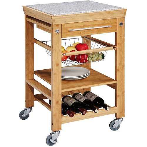 kitchen island cart granite top. Bamboo Kitchen Island With Inlaid Granite Top Cart .