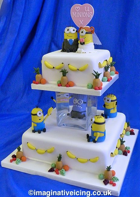 how to make a minion wedding cake topper minion wedding minions wedding cake imaginative icing 15822