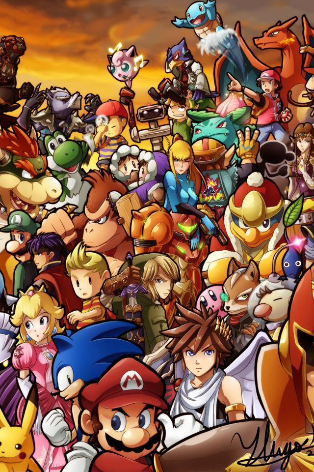 Smash Bros Iphone Wallpaper Wallpapersafari Smash Bros Super Smash Bros Brawl Nintendo Super Smash Bros