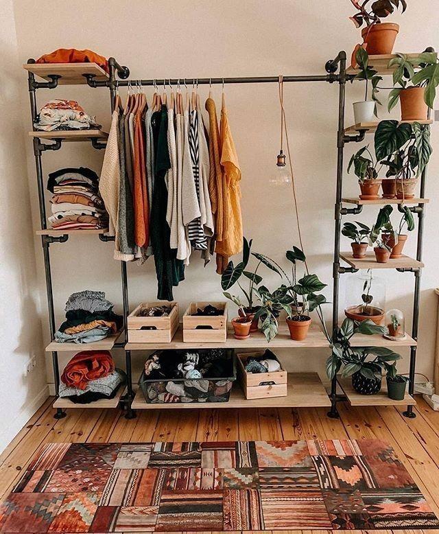 Open shelves for clothes
