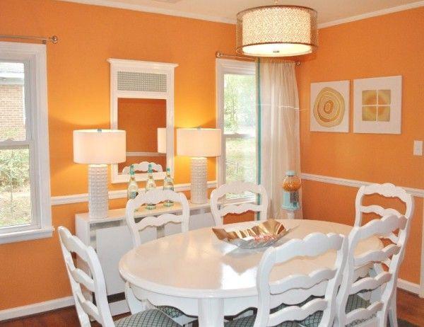 comedor naranja intenso | COMEDOR | Pinterest | Naranja, Comedores y ...