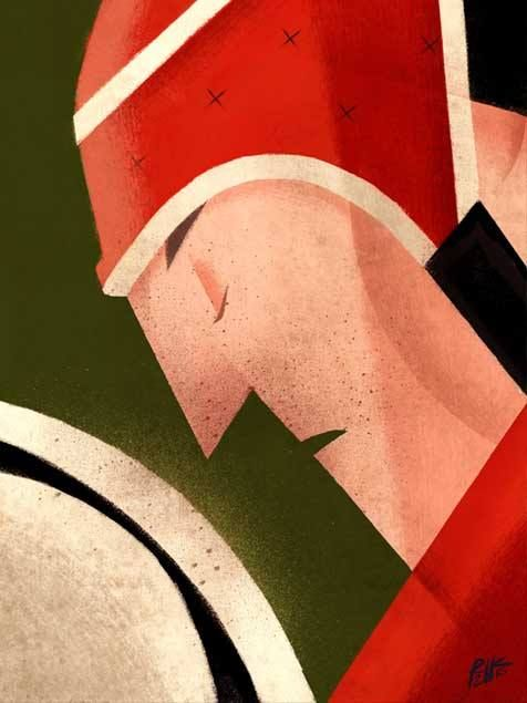 Rugby Player Concentration Illustration Geometric Shapes Source The Mobile Wallpaper Inspiration For The Rugby Art Rugby Illustration Rugby Wallpaper