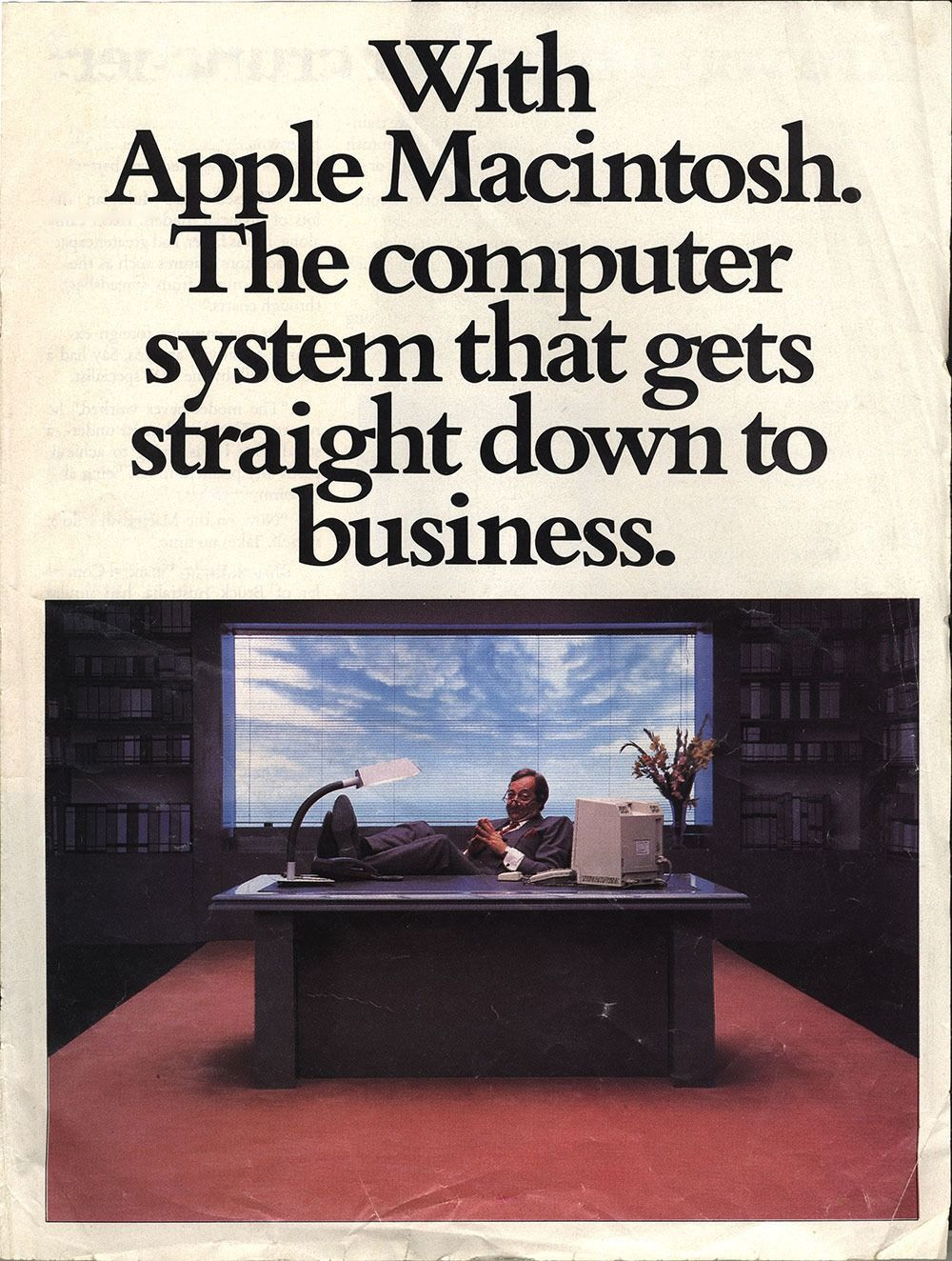 In these vintage tech ads, the computers and gadgets are way larger and clunkier, the text's a straight-up cheese-fest, and the graphics are so totally '80s.
