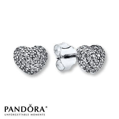 34fe3edceaa8 Pandora Earrings Clear CZ Sterling Silver  60…I love Pandora