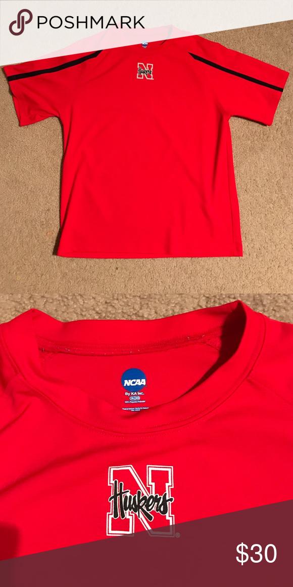 NCAA Husker Tee NCAA Nebraska Husker tee. Drifit material. Perfect condition. NCAA Shirts Tees - Short Sleeve