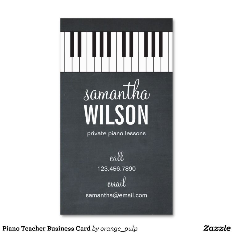 Piano Teacher Business Card Zazzle Com Exceptional Business
