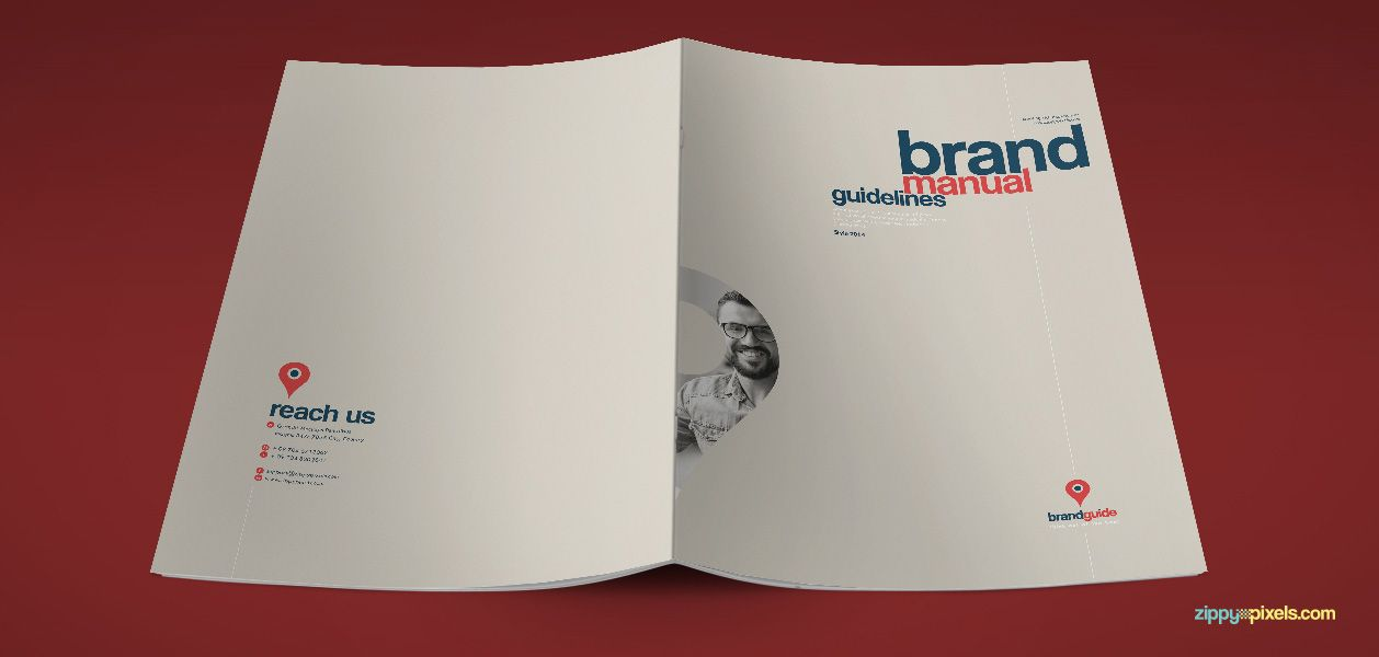 Artistic Brand Identity Manual Template - Brand Book | ZippyPixels ...
