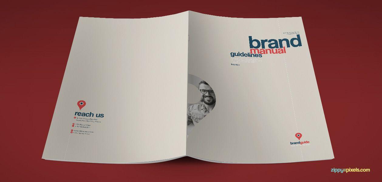 Artistic Brand Identity Manual Template Brand Book – Manual Design Templates