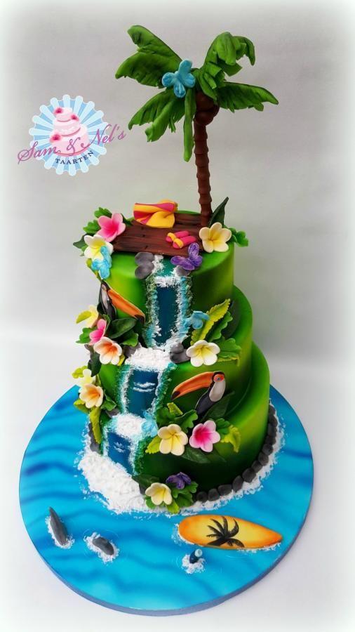 hawaii taart Tropical cake by Sam & Nel's Taarten | Cakes & Cake Decorating  hawaii taart