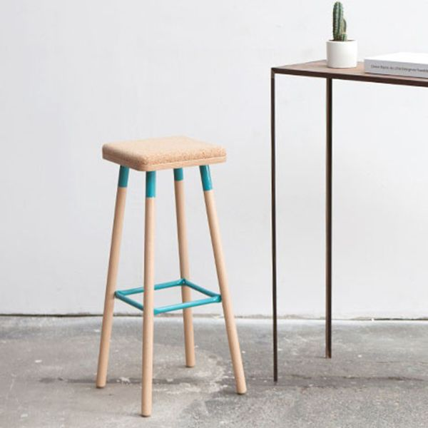 It's not easy making a simple design look original, but UBIKUBI have hit the nail on the head with their playful looking Marco range. Set on a layer of varnished Beech Ply, a super comfy lacquered square cork seat will keep your booty bouncy, while the solid Beechwood legs are given a splash of colour with powder coated trims.