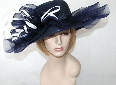 84c081f4d0c kentucky derby womens hats navy blue