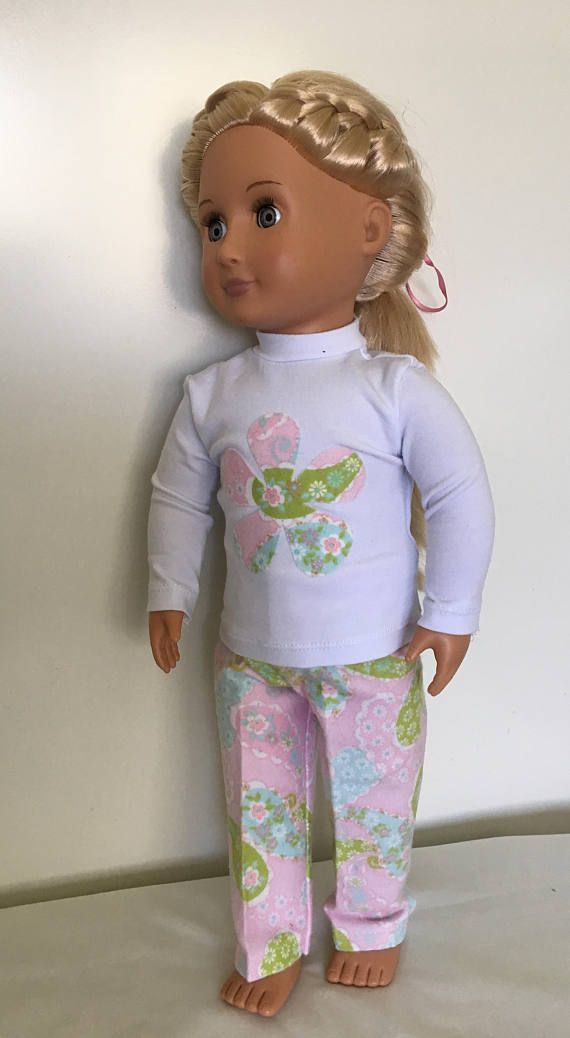 Pyjamas in paisley for American Girl or Our