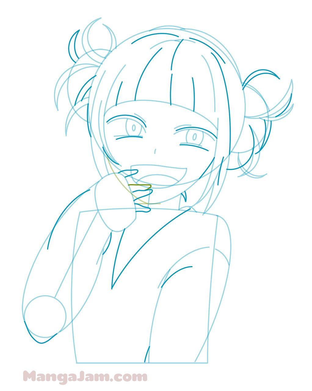 How To Draw Himiko Toga From My Hero Academia Mangajam Com Anime Character Drawing Drawings Anime Drawings Sketches
