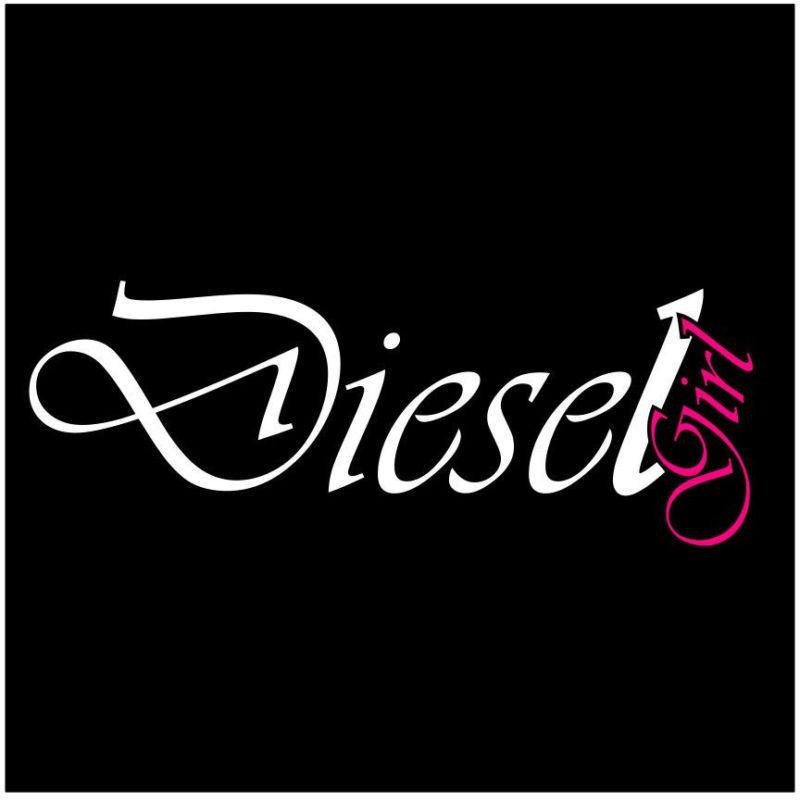 Details About Diesel Girl 2 Color Vinyl Decal Sticker Window Truck