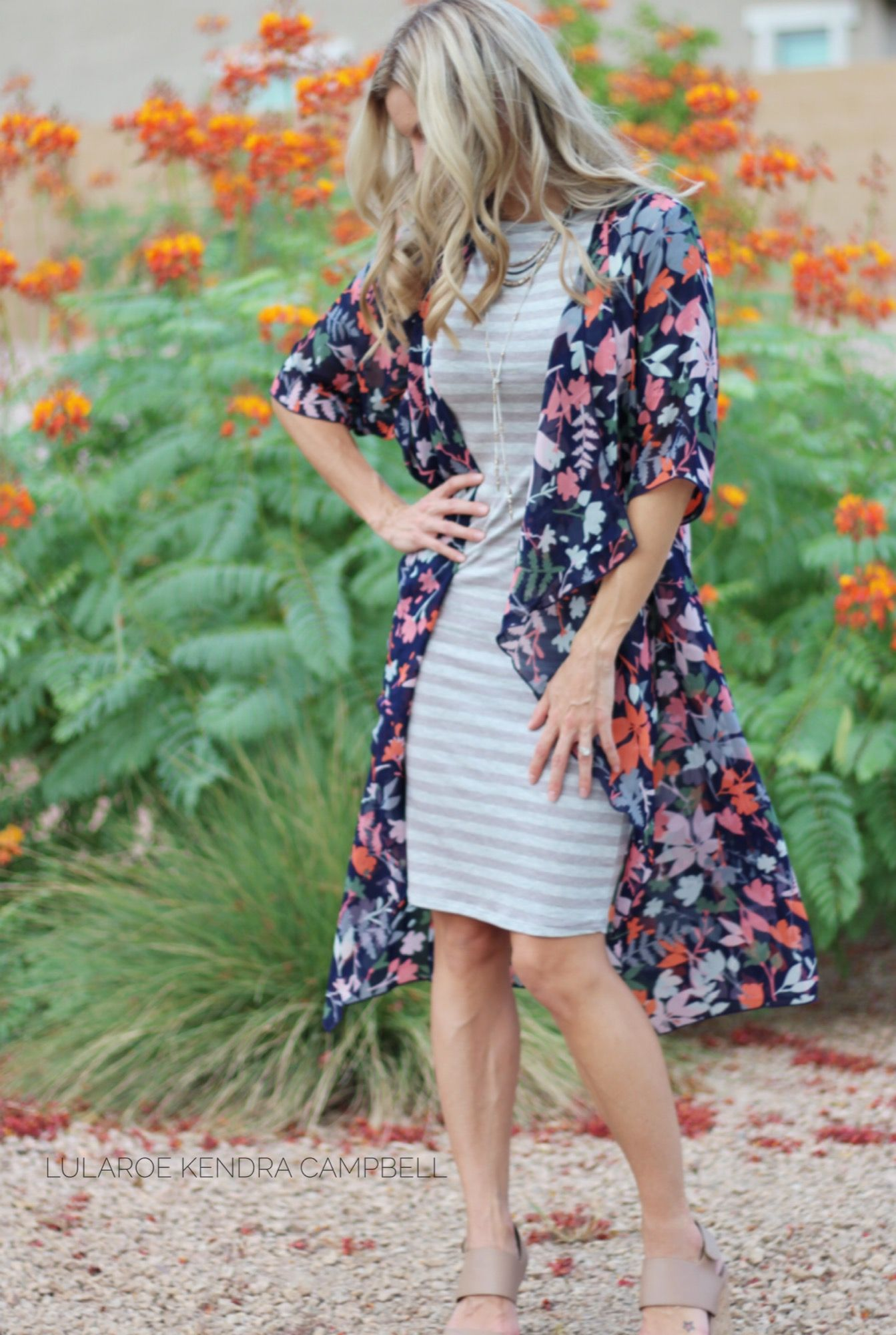 b04239167f7 Outfit details  LuLaRoe Julia dress and Shirley kimono. Click for more style  inspiration and to shop LuLaRoe!
