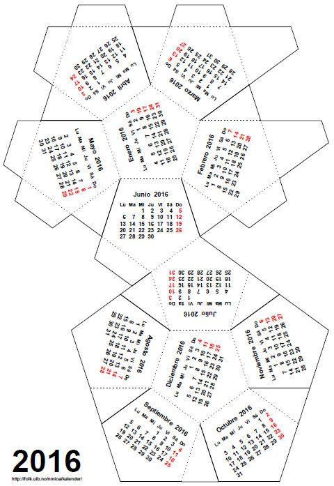 Calendarios poliédricos para2016: un motón de formas para montar…