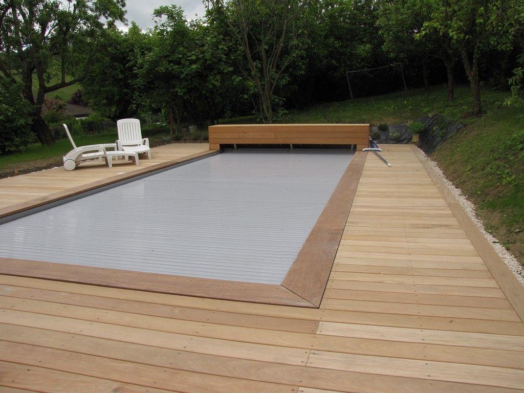 Häufig Terrasse en Ipe clipsé lisse autour d'une piscine.Photo prise un  DI88
