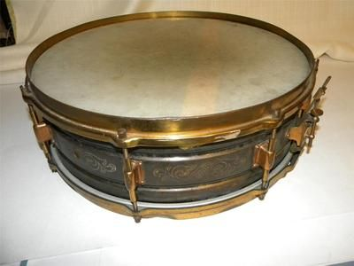Vintage Leedy Brass Metal Snare Drum | Drum stuff | Pinterest