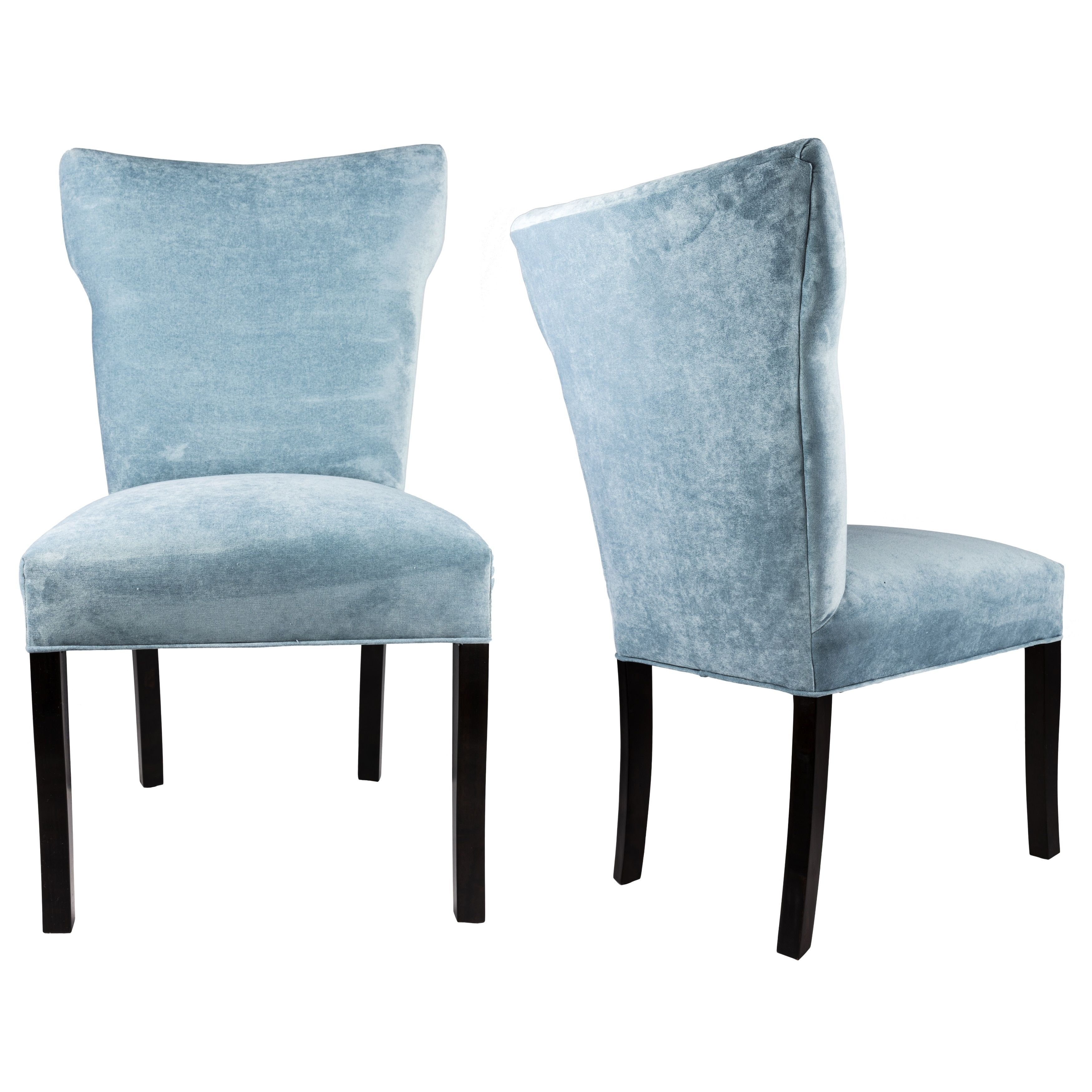 Sole Designs Bella Collection Sonoma Upholstered Contemporary Armless Dining Side Chairs, Espresso legs
